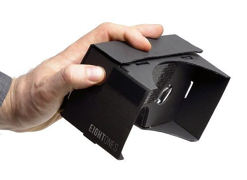 EightOnes VR Google Cardboard Kit Held in Hand