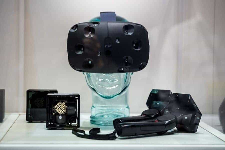 HTC Vive Headset On Display