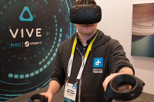 Man Playing on a HTC Vive