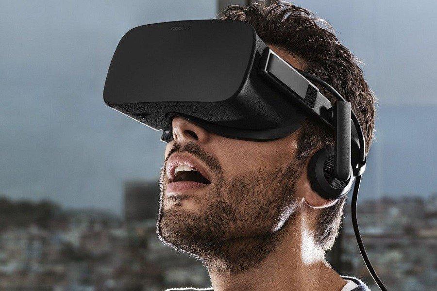 Man Using Oculus Rift
