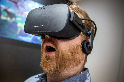Man Using Oculus Rift