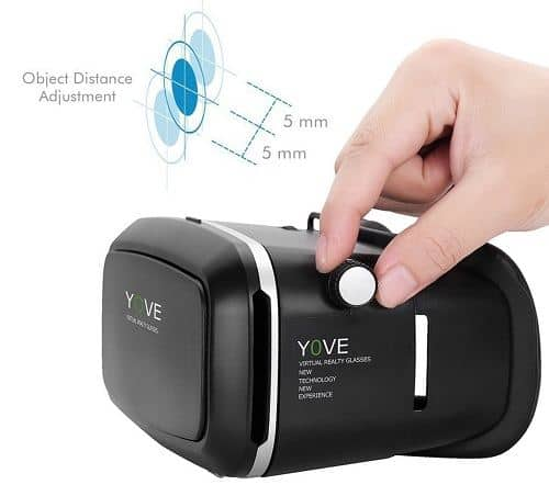 Yove 3D Virtual Reality Headset Object Distance Adjustment
